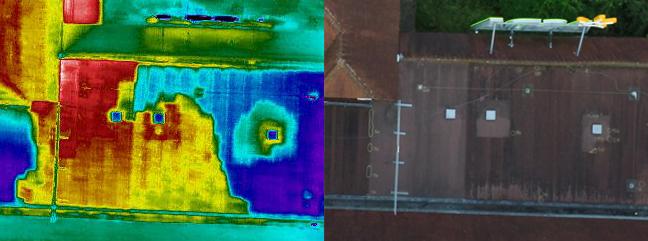 Flat Roof Leak - Moisture Ingress