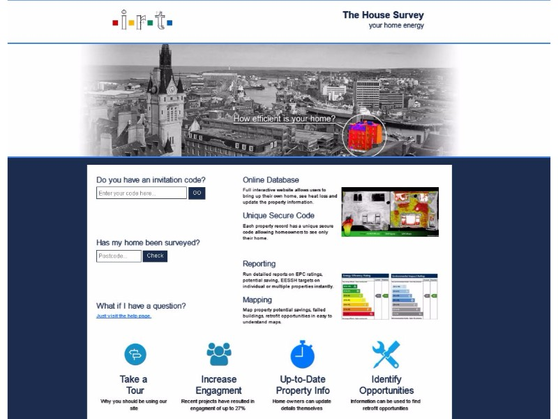 TheHousesurvey.co.uk individual home page.
